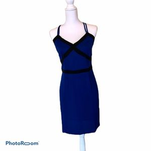 Bebe Royal Blue Fitted Cami Dress Size 8